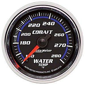 "2-1/16"" Gauges - Auto Meter Cobalt Series - Autometer - Auto Meter Cobalt Series, Water Temperature 140*-280*F (Mechanical)"