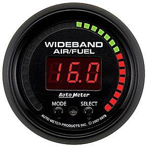 "2-1/16"" Gauges - Auto Meter ES Series - Autometer - Auto Meter ES Series, Air/Fuel Ratio-Wideband Pro (Full Sweep Electric)"