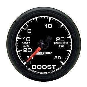 "2-1/16"" Gauges - Auto Meter ES Series - Autometer - Auto Meter ES Series, Boost/Vacuum Pressure 30""HG/30psi (Full Sweep Electric)"