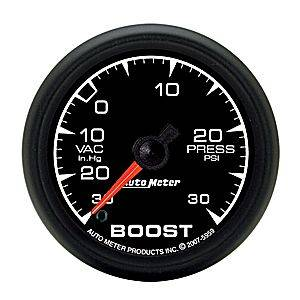 "2-1/16"" Gauges - Auto Meter ES Series - Autometer - Auto Meter ES Series, Boost/Vacuum Pressure 30""HG/30psi (Full Sweep Electric)"