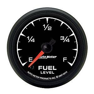 "2-1/16"" Gauges - Auto Meter ES Series - Autometer - Auto Meter ES Series, Fuel Level Programmable (Full Sweep Electric)"
