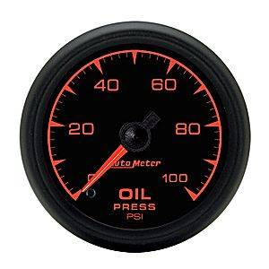 "2-1/16"" Gauges - Auto Meter ES Series - Autometer - Auto Meter ES Series, Oil Pressure 0-100psi (Full Sweep Electric)"
