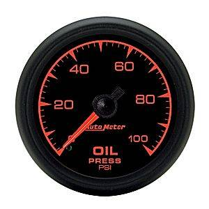 "2-1/16"" Gauges - Auto Meter ES Series - Autometer - Auto Meter ES Series, Oil Pressure 0-100psi (Mechanical)"
