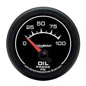 "2-1/16"" Gauges - Auto Meter ES Series - Autometer - Auto Meter ES Series, Oil Pressure 0-100psi (Short Sweep Electric)"