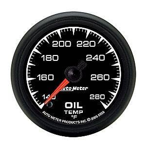 "2-1/16"" Gauges - Auto Meter ES Series - Autometer - Auto Meter ES Series, Oil Temperature 140*-280*F (Full Sweep Electric)"