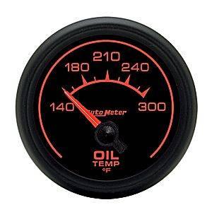 "2-1/16"" Gauges - Auto Meter ES Series - Autometer - Auto Meter ES Series, Oil Temperature 140*-300*F (Short Sweep Electric)"