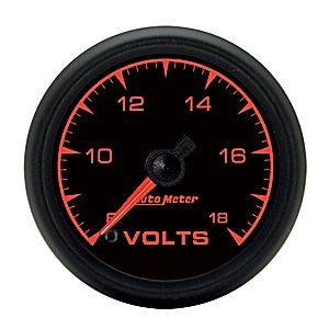 "2-1/16"" Gauges - Auto Meter ES Series - Autometer - Auto Meter ES Series, Voltmeter 8-18volts (Full Sweep Electric)"