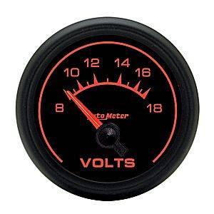 "2-1/16"" Gauges - Auto Meter ES Series - Autometer - Auto Meter ES Series, Voltmeter 8-18volts (Short Sweep Electric)"
