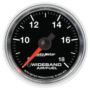 "2-1/16"" Gauges - Auto Meter GS Series - Autometer - Auto Meter GS Series, Air/Fuel Ratio-Wideband Analog (Full Sweep Electric)"