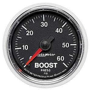 "2-1/16"" Gauges - Auto Meter GS Series - Autometer - Auto Meter GS Series, Boost Pressure 0-60psi (Mechanical)"