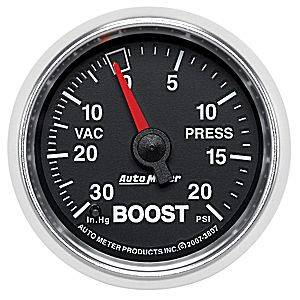 "2-1/16"" Gauges - Auto Meter GS Series - Autometer - Auto Meter GS Series, Boost/Vacuum Pressure 30"" HG/20psi (Mechanical)"