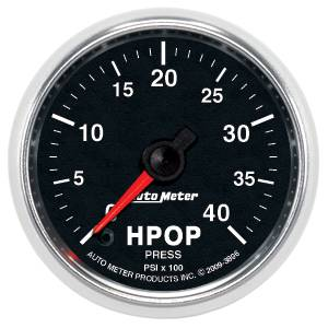 "2-1/16"" Gauges - Auto Meter GS Series - Autometer - Auto Meter GS Series, Diesel Fuel HPOP Pressure 0-4000psi 7.3L & 6.0L (Full Sweep Electric)"