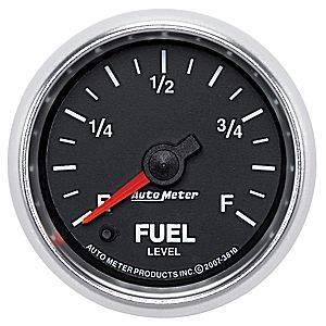 "2-1/16"" Gauges - Auto Meter GS Series - Autometer - Auto Meter GS Series, Diesel Fuel Level Programmable (Full Sweep Electric)"