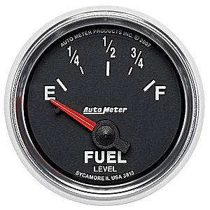 "2-1/16"" Gauges - Auto Meter GS Series - Autometer - Auto Meter GS Series, Fuel Level (Short Sweep Electric) GM"