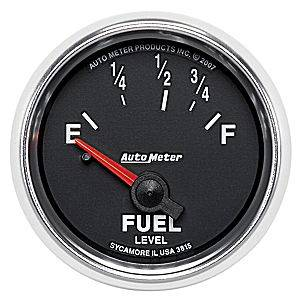 "2-1/16"" Gauges - Auto Meter GS Series - Autometer - Auto Meter GS Series, Fuel Level (Short Sweep Electric) Ford"