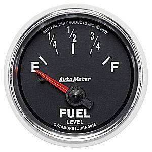 "2-1/16"" Gauges - Auto Meter GS Series - Autometer - Auto Meter GS Series, Fuel Level 240-33 ohms (Short Sweep Electric)"