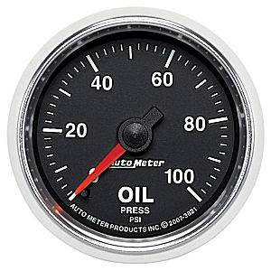 "2-1/16"" Gauges - Auto Meter GS Series - Autometer - Auto Meter GS Series, Oil Pressure 0-100psi (Mechanical)"