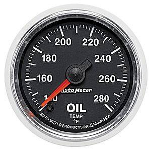 "2-1/16"" Gauges - Auto Meter GS Series - Autometer - Auto Meter GS Series, Oil Temperature 140*-280*F (Full Sweep Electric)"