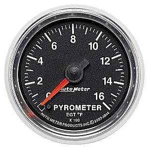 "2-1/16"" Gauges - Auto Meter GS Series - Autometer - Auto Meter GS Series, Pyrometer Kit 0*-1600*F (Full Sweep Electric)"