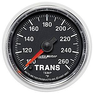 "2-1/16"" Gauges - Auto Meter GS Series - Autometer - Auto Meter GS Series, Transmission Temperature 100*-260*F (Full Sweep Electric)"