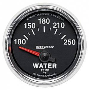 "2-1/16"" Gauges - Auto Meter GS Series - Autometer - Auto Meter GS Series, Water Temperature 100*-250*F (Short Sweep Electric)"