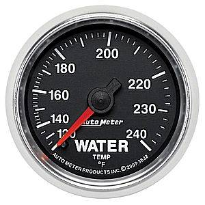 "2-1/16"" Gauges - Auto Meter GS Series - Autometer - Auto Meter GS Series, Water Temperature 120*-240*F (Mechanical)"