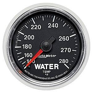 "2-1/16"" Gauges - Auto Meter GS Series - Autometer - Auto Meter GS Series, Water Temperature 140*-280*F (Mechanical)"
