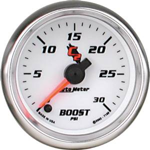 "2-1/16"" Gauges - Auto Meter C2 Series - Autometer - Auto Meter C2 Series, Boost Pressure 0-30psi (Full Sweep Electric)"