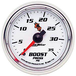 "2-1/16"" Gauges - Auto Meter C2 Series - Autometer - Auto Meter C2 Series, Boost Pressure 0-35psi (Mechanical)"