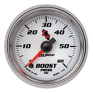 "2-1/16"" Gauges - Auto Meter C2 Series - Autometer - Auto Meter C2 Series, Boost Pressure 0-60psi (Full Sweep Electric)"