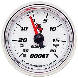 "Autometer - Auto Meter C2 Series, Boost/Vacuum 30""HG/20psi (Mechanical)"