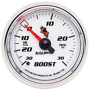 "Autometer - Auto Meter C2 Series, Boost/Vacuum 30""HG/30psi (Mechanical)"