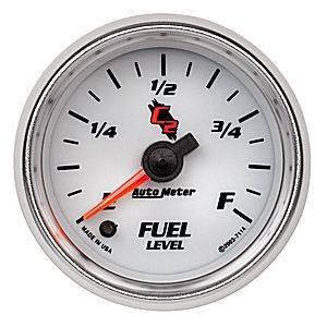 "2-1/16"" Gauges - Auto Meter C2 Series - Autometer - Auto Meter C2 Series, Fuel Level Programmable (Full Sweep Electric)"