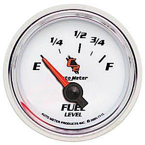 "2-1/16"" Gauges - Auto Meter C2 Series - Autometer - Auto Meter C2 Series, Fuel Level (Short Sweep Electric) Ford"