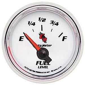 "2-1/16"" Gauges - Auto Meter C2 Series - Autometer - Auto Meter C2 Series, Fuel Level 240-33 ohms (Short Sweep Electric)"