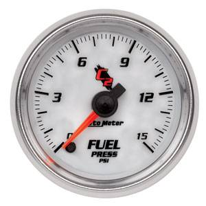 "2-1/16"" Gauges - Auto Meter C2 Series - Autometer - Auto Meter C2 Series, Fuel Pressure 0-15psi (Full Sweep Electric)"