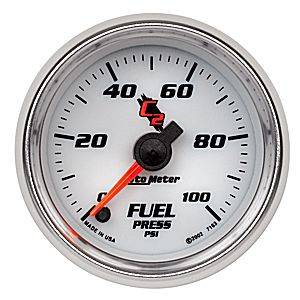 "2-1/16"" Gauges - Auto Meter C2 Series - Autometer - Auto Meter C2 Series, Fuel Pressure 0-100psi (Full Sweep Electric)"