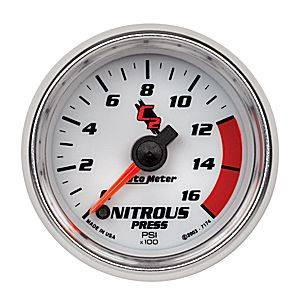 Autometer - Auto Meter C2 Series, Nitrous Pressure 0-1600psi (Full Sweep Electric)