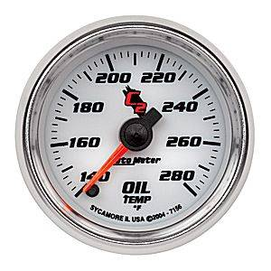 "2-1/16"" Gauges - Auto Meter C2 Series - Autometer - Auto Meter C2 Series, Oil Temperature 140*-280*F (Full Sweep Electric)"
