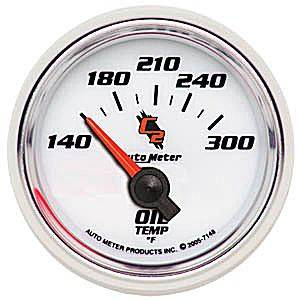 "2-1/16"" Gauges - Auto Meter C2 Series - Autometer - Auto Meter C2 Series, Oil Temperature 140*-300*F (Short Sweep Electric)"