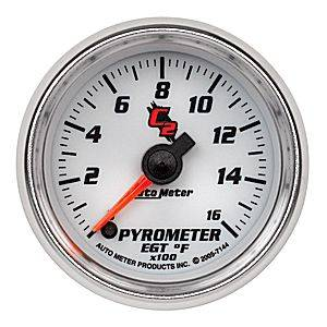 "2-1/16"" Gauges - Auto Meter C2 Series - Autometer - Auto Meter C2 Series, Pyrometer Kit 0*-1600*F (Full Sweep Electric)"