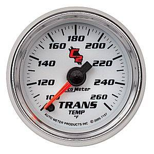 "2-1/16"" Gauges - Auto Meter C2 Series - Autometer - Auto Meter C2 Series, Transmission Temperature 100*-260*F (Full Sweep Electric)"
