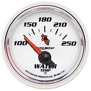 "2-1/16"" Gauges - Auto Meter C2 Series - Autometer - Auto Meter C2 Series, Water Temperature 100*-250*F (Short Sweep Electric)"