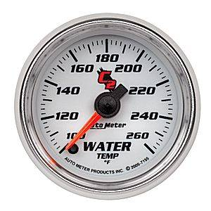 "2-1/16"" Gauges - Auto Meter C2 Series - Autometer - Auto Meter C2 Series, Water Temperature 100*-260*F (Full Sweep Electric)"
