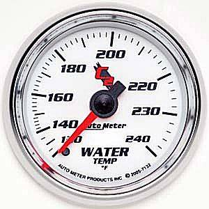 "2-1/16"" Gauges - Auto Meter C2 Series - Autometer - Auto Meter C2 Series, Water Temperature 120*-240*F (Mechanical)"