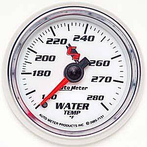 "2-1/16"" Gauges - Auto Meter C2 Series - Autometer - Auto Meter C2 Series, Water Temperature 140*-280*F (Mechanical)"