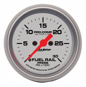 "2-1/16"" Gauges - Auto Meter Ultra Lite Series - Autometer - Auto Meter Ultra Lite Series, Diesel Fuel Rail Pressure 0-30,000psi (Full Sweep Electric) 5.9L LB7 & LLY"
