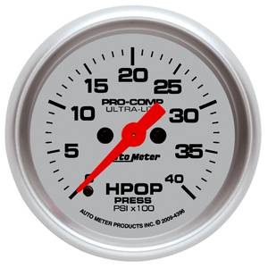 "2-1/16"" Gauges - Auto Meter Ultra Lite Series - Autometer - Auto Meter Ultra Lite Series, Diesel HPOP Pressure 0-4,000psi (Full Sweep Electric) 7.3L & 6.0L"