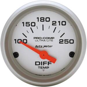 "2-1/16"" Gauges - Auto Meter Ultra Lite Series - Autometer - Auto Meter Ultra Lite Series, Differential Temperature 100*-250*F (Short Sweep Electric)"
