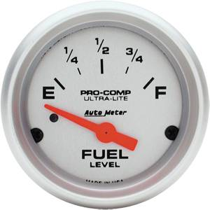 "2-1/16"" Gauges - Auto Meter Ultra Lite Series - Autometer - Auto Meter Ultra Lite Series, Fuel Level (Short Sweep Electric) Pre '87 Mustang/ Pre '89 Ford"